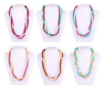 Wholesale Sports Necklace For Free - DIY Jewelry Women Fashion Necklace For Baby Chewing Silicone Loose Round Beads BPA Free Non-poisonous Food Grade Baby Safety Teething 15mm
