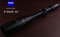 Wholesale Illuminated Hunting Rifle Scopes - 2017 New Carl Zeiss Golden Letters 6-24x50AO Red And Green Illuminated Air Rifle Optics Riflescopes for Hunting Scope Made in China