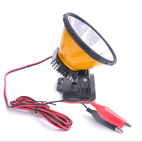 Wholesale 12v Led Light Circuit - 12V 30W LED headlamp Integrated Circuit diffused lighting large spot head torch Hunting Camping fishing head led light