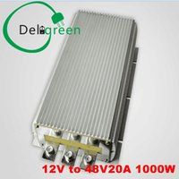 Wholesale Dc Converter 12v 48v - 12V to 48V 20A 1000W DC DC Converter Regulator Car Step upboost module power supply free shipping