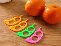 ingrosso mouse dita-100 pz / lotto spedizione gratuita forma del mouse aperto buccia d'arancia dispositivo arancione gadget da cucina strumenti di cottura pelapatate tipo dito dito