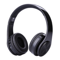 Wholesale wireless mp3 player blue black for sale - 2017 New Wireless Headphones WH812 EDR Bluetooth headphones wireless headset with MP3 Player Micphone for Smart Phones PC V126 DHL free