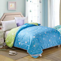 Al por mayor-Summer Edredones Star Comforters Feather Relleno de terciopelo Manta / Doona / Duvet Full Queen King Size