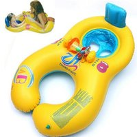 Wholesale Baby Swimming Neck Float - Inflatable baby swimming neck ring mother and child swimming circle double swimming rings float seat piscine