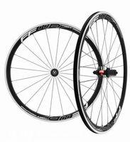 Wholesale Black Road Bike Rims - 3k glossy carbon alloy wheels rims 38mm 700c clincher with black powerway R13 hub road bike wheelset