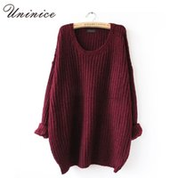 oversized sweaters cheap - Korean Pullover Sweater For Women Cheap Autumn Winter Long Loose Oversized Jumpers Female Knitted Casual Sweater for Lady Hot