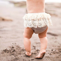 Wholesale Toddlers Pink Panties - Ins Lace Baby Briefs tassels Children Underwear Girls Bread pants boutique clothing Newborn Panties Toddler shorts Infant Clothing A849
