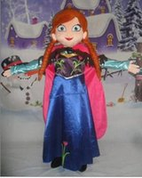Wholesale Sales Role Play - 2016 Top Sale custom made anna princess dress mascot costume From Frozen princess anna and Elsa queen role play costume for adult