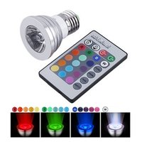 RGB 3W LED Spotlight bulbo com multi-color controlador remoto 16 cores mutáveis ​​Energy Saving RGB LED Lamp