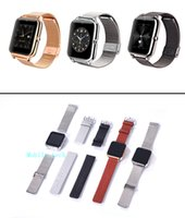 Wholesale Iphone Silver Lcd - Z50 Smart Watch Touch Screen 3.0 Bluetooth 1.54inch LCD MTK6261 2G GSM 240*240 OGS Passometer Watch for iphone 6 Samsung phone