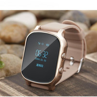 Wholesale Gsm Gprs Agps Tracker - GPS Tracker Watch For Kids Child GPRS Bracelet Google Map SOS Button AGPS GSM Wristband Personal Tracking Two Way Communicatio car