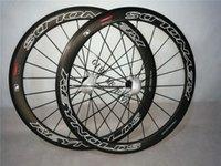 Wholesale Reynolds Road Wheelset - carbon 50mm Reynolds STRIKE SLG clincher wheels 23mm 25mm width basalt brake surface 3K matte finish 700C bicycle wheelset