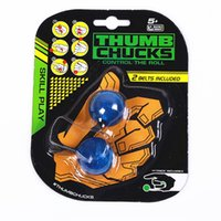 Wholesale Wholesale Logo Game - LED Thumb Chucks Fidget In Display Without Zing LOGO Bundle Control Roll Game Yomega Monkey Knuckles LED Finger Yoyo Anti Stress Toys