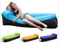 Wholesale Synthetic For Bag - hot style lazy man inflatable couch convenient for outdoor beach air sleeping bags and lazy sleep bags can be folded into a sleep bag