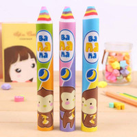 Wholesale Rainbow Pencils - 2 Pieces Novelty Rainbow Pen Shape Eraser Sweet Rubber Eraser Creative Stationery School Supplies Gifts for Kids Student Prize