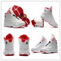 Wholesale Elastic Shoes - Wholesale Mens Air Retro 13 Basketball Shoes New Color White Red Team Red Hoyas Men Shoes Retro 13s XIII Sport Sneakers