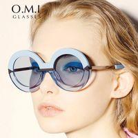 Wholesale Sunglasses Golden Arrows - 2017 New Arrival Round Arrow Sunglasses Vintage Poolside Creeper Sea Blue Superstar Personality Sun Glasses OM239