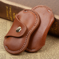 Wholesale Compress Dry Bags - Retro Brown Hand Spinner Leather Sheath Fidget Spinners Bag Practical Cases For Spinning Top Box Sturdy Container High Quality 4 5ym R