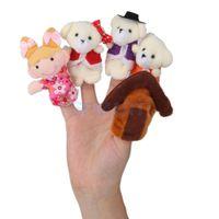 Wholesale Bears Tale - Wholesale-5pcs Set Goldilocks and Three Bears Finger Puppets Nursery Rhyme Fairy Tale