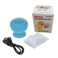becherhalterlautsprecher großhandel-Neue ankunft Drahtlose Bluetooth Mini Lautsprecher Pilz Wasserdichte Silicon Saugnapf Handfree Halter für universal smartphone mit kleinkasten