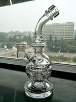 Wholesale nice thick - Joint 14mm Thick Clear Glass Bongs Tall 20cm Skull Art Thickness Per Percolator Nice Glass Bong