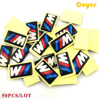 Wholesale Bmw E46 Styling - Car Stickers for Bmw M M3 M5 M6 X5 E46 Personality Labels Auto Decorations Accessories Car Plastic Drop Sticker Car Styling 50pcs Lot