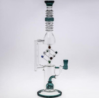 Wholesale mm oil - Bong Glass 35cm Tall bong Oil rig Water Pipes perc perclator Recycle Oil Rigs With Bowl Joint Size 14.4 mm New Bong