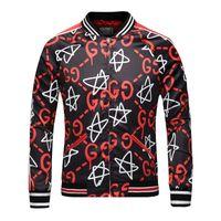 Wholesale Winter Fashion Cardigan - G 2017 Autumn and Winter New Fashion Men's Jacket High-Definition Digital Pentagram Printed Long Sleeve Zipper Cardigan Casual Medusa Top