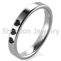 Wholesale Tungsten Heart Wedding Band - SHARDON 3MM Tungsten Pipe Cut Rings With 8 Bit Hearts Design Legend Of Zelda Game Promise Wedding Band for Women