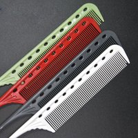 Wholesale Pvc Dies - 4pcs set Multicolor Professional Combs Hairdressing New Tail Comb Two Carbon Anti Static Comb Hair Perming and Dying Comb