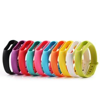 Wholesale Silicone Wristband Strap - Color Silicone Wearable Miband 2 Replacement Watch Strap For Xiaomi Mi band 2 Wrist Band Smart Bracelet Strap belt Accessories in Smart Band