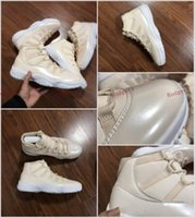 2017 Famous Brand Retro 11 Beach Femmes Basketball Shoes Pearl Rice White Vente en gros 11 Sports Sneaker chaussures taille 40-46 en vente