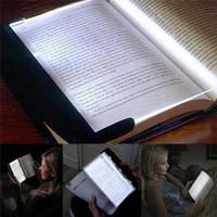 panel kitap ışığı toptan satış-Taşınabilir Plaka Yenilik Göz Koruyun LED Okuma Kitap Düz Panel Okuma Lambası Kitap Işık Sihirli Gece Görüş Işık