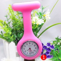 Wholesale Digital Nurses Watch - 2017 Nurse Medical watch Silicone Clip Pocket Watches Fashion Nurse Doctor Silicon Quartz Watches christmas Holiday Activity gifts new