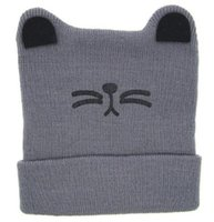 1USD Enlace de pago solo 1pcs = 1USD Moeble Cartoon Cat Ear Toddler Hats Invierno leche bebé gorras de punto recién nacido sombreros infantil gorros Skullies