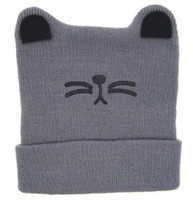 chapeaux casquettes pour bébés achat en gros de-1USD Lien de paiement seulement 1pcs = 1USD Moeble Cartoon Cat Eard Toddler Hats Hiver Milk Baby Caps Warm Knitted Newborn Hats Bonnets pour bébés Skullies