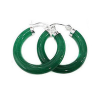 Wholesale Red Jade Dangle Earrings - New Women's very perfect beautiful Green Jade Earring>>> free shipping
