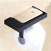 Wholesale Wholesale Antique Toilets - Brass Black Antique Surface Paper towels Toilet Planes Bathroom Tissue Boxes Roll Paper Wall Mounted Accessory