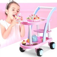 Wholesale Toy Fruit Vegetable Carts - Children play cut fruit vegetables as toys to see the baby girl Qiele kitchen chopping cut cake cart.