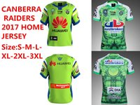 Wholesale Best Stock Shorts - New in stock 2017 best quality shirt Free shipping CANBERRA NRL 2017 Home Rugby jersey SIZE S-3XL