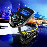 Wholesale Micro Sd Card 1g - 2017 New Bluetooth Car Kit handsfree Set FM Transmitter MP3 music Player 5V 2.1A USB Car charger, Support Micro SD Card 1G-32G