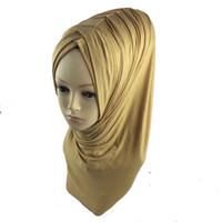 Wholesale abaya scarf - Wholesale-1pc Khimar Instant Hijab One Piece Abaya Jilbab Islam Ramadan muslim pleat instant shawl Jersey Pick 28 Colors retail wholesale