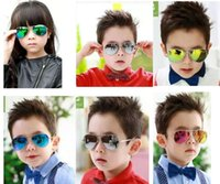 Wholesale Beach Boys Fashion - Children Girls Boys Sunglasses Kids Beach Supplies UV Protective Eyewear Baby Fashion Sunshades Glasses Free Shipping