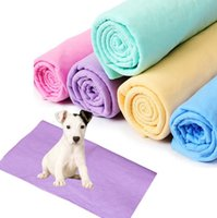 Wholesale Pet Dryers - Pet Bath Towel 40*34cm Soft Warm Fast Drying Grooming Microfiber Bath Towel For Pet Dog Cat OOA2504