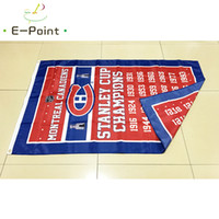 Wholesale canadian flags - Montreal Canadians Stanley Cup Champions (NHL) 3*5ft (90cm*150cm) Polyester flag Banner American decoration flying home & garden