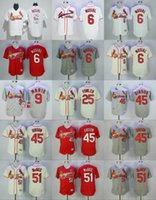 Wholesale Men Dexter - st. louis cardinals #9 roger maris #25 dexter fowler #45 bob gibson #6 stan musial red beige white grey 2017 Baseball Jerseys Embroidered On