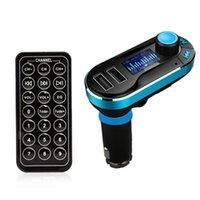 dual sd mp3 al por mayor-Al por mayor-Dual Cargador USB Bluetooth Car Kit Reproductor de música MP3 Manos libres Set FM Transmisor Pantalla LCD Soporte Tarjeta SD ME3L