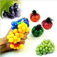 Wholesale Ball Anti Face - PrettyBaby Cute Anti Stress Face Reliever Grape Ball Autism Mood Squeeze Relief Healthy Toy Funny Geek Gadget Vent Toy free shipping