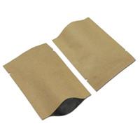 Wholesale aluminium crafts - 20*30cm 40Pcs  Lot Food Storage Pouch Kraft Paper Open Top Aluminium Foil Snack Tea Coffee Heat Seal Craft Paper Mylar Pack Bag