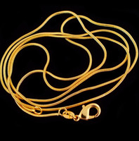 "Wholesale Tibet Choker Necklaces - 20pcs lot Wholesale Fashion Gold Color Necklace Chains,1mm Snake Chain Necklace 16""-30"",Pick Length"
